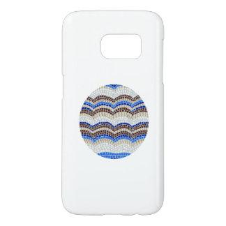 Funda Samsung Galaxy S7 Caja azul redonda de la galaxia S7 de Samsung del