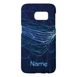 Funda Samsung Galaxy S7 Caja conocida azul abstracta de la galaxia S7 de
