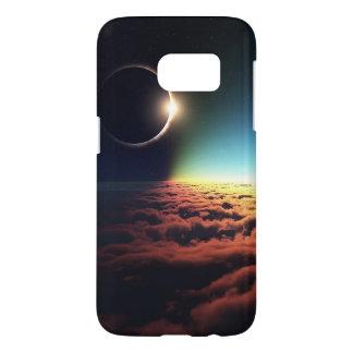Funda Samsung Galaxy S7 Caja de la galaxia S7 del espacio