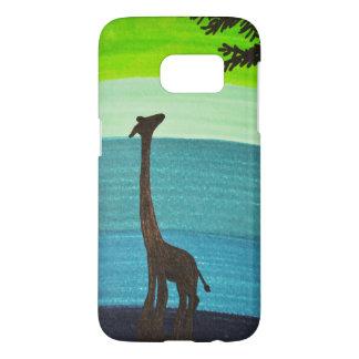 Funda Samsung Galaxy S7 Caja del teléfono del Doodle de la jirafa