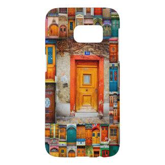 Funda Samsung Galaxy S7 Cajas suizas anaranjadas del teléfono de la puerta