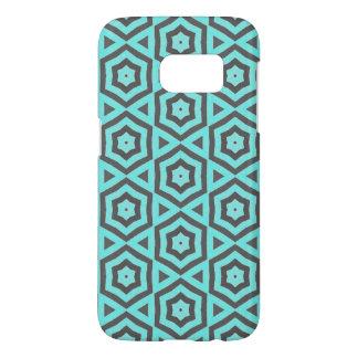 Funda Samsung Galaxy S7 Caso androide del modelo verde azulado y gris