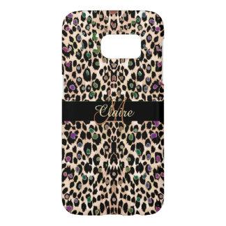 Funda Samsung Galaxy S7 Caso brillante del estampado leopardo del arco