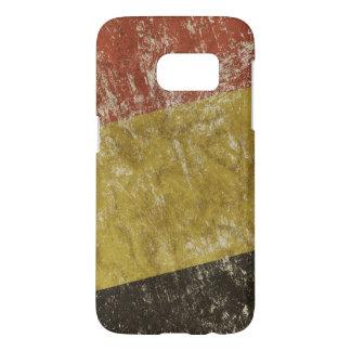 Funda Samsung Galaxy S7 Caso patriótico con la bandera de Bélgica