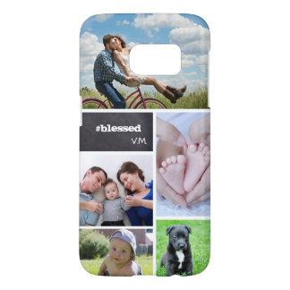 Funda Samsung Galaxy S7 Collage de encargo 5 fotos, letras de la tiza