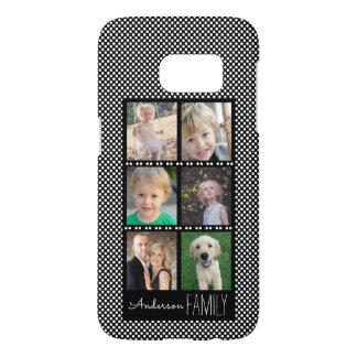 Funda Samsung Galaxy S7 Collage de la foto de familia en negro con los