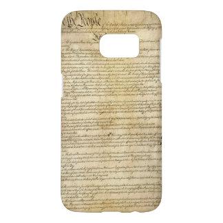 Funda Samsung Galaxy S7 Constitución de Estados Unidos del vintage