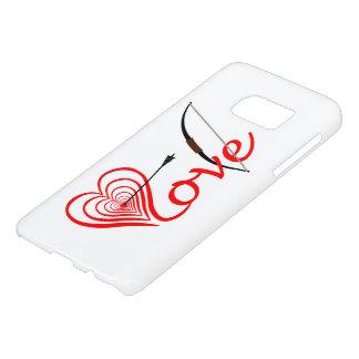 Funda Samsung Galaxy S7 Corazón amor blanco con flecha y arco