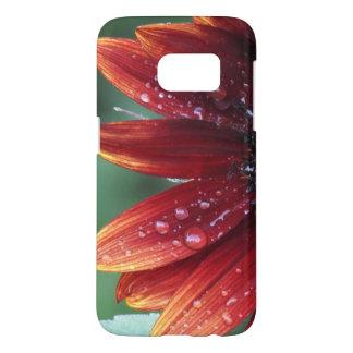 Funda Samsung Galaxy S7 Descensos rojos de los pétalos y de la lluvia del