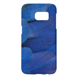 Funda Samsung Galaxy S7 Diseño azul de la pluma del Macaw del jacinto