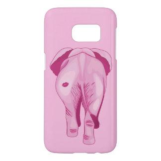 Funda Samsung Galaxy S7 Elefante rosado SWAK