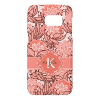 Funda Samsung Galaxy S7 Estampado de flores coralino tropical con el