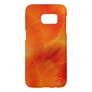 Funda Samsung Galaxy S7 Extracto anaranjado de la pluma del Macaw de