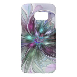 Funda Samsung Galaxy S7 Flor moderna del fractal del extracto colorido de