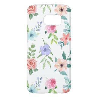 Funda Samsung Galaxy S7 Flores lindas de la acuarela
