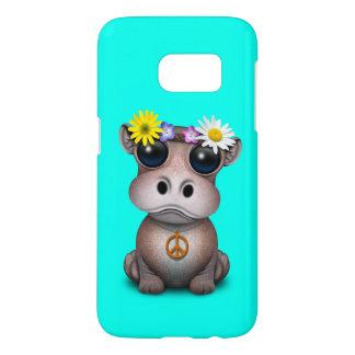 Funda Samsung Galaxy S7 Hippie lindo del hipopótamo del bebé