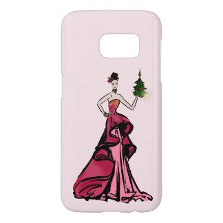 Funda Samsung Galaxy S7 Ilustracion de la moda del navidad con el árbol