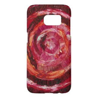 Funda Samsung Galaxy S7 ilustraciones espirales rojas #2 de 1st-Root