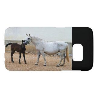 Funda Samsung Galaxy S7 iPhone de la yegua y del potro de Lipizzan,