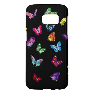 Funda Samsung Galaxy S7 la galaxia S7 de Samsung de la mariposa, allí