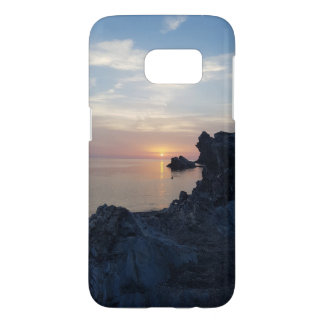 Funda Samsung Galaxy S7 La puesta del sol en la playa de Argentiera