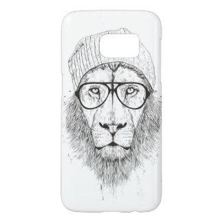 Funda Samsung Galaxy S7 León fresco (blanco y negro)