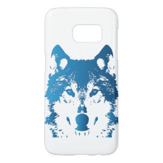 Funda Samsung Galaxy S7 Lobo de los azules claros del ilustracion
