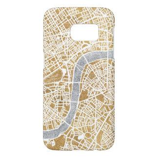 Funda Samsung Galaxy S7 Mapa dorado de la ciudad de Londres