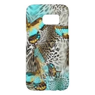 Funda Samsung Galaxy S7 Mariposas del estampado leopardo y del trullo