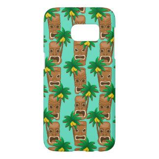 Funda Samsung Galaxy S7 Modelo hawaiano de la repetición de Tiki