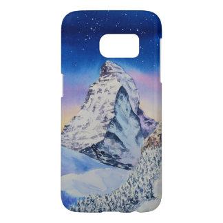 Funda Samsung Galaxy S7 Montaña de Cervino en nieve en la tarde del
