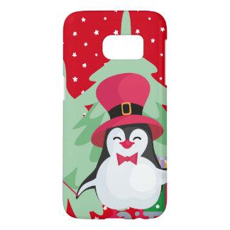 Funda Samsung Galaxy S7 Pingüino festivo con el trineo