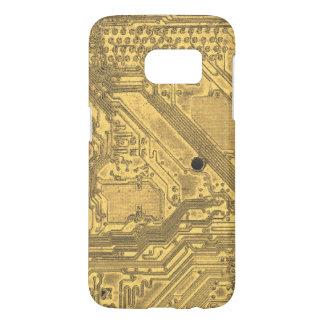 Funda Samsung Galaxy S7 Placa de circuito del oro