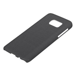 Funda Samsung Galaxy S7 Polímero negro y gris de la fibra de carbono
