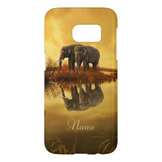 Funda Samsung Galaxy S7 Puesta del sol de los elefantes