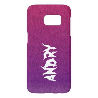 Funda Samsung Galaxy S7 púrpura rosada psicodélica abstracta