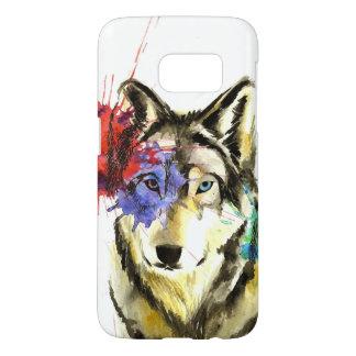 Funda Samsung Galaxy S7 Salpicadura del lobo