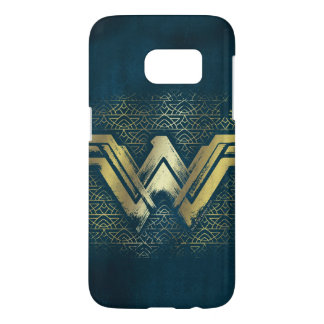 Funda Samsung Galaxy S7 Símbolo cepillado Mujer Maravilla del oro