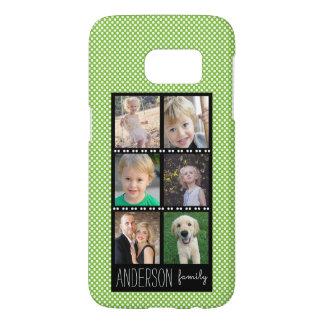 Funda Samsung Galaxy S7 Verde del collage de la foto de familia con los