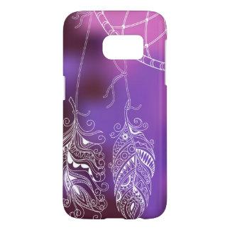 Funda Samsung Galaxy S7 violet boho pattern with dreamcatcher
