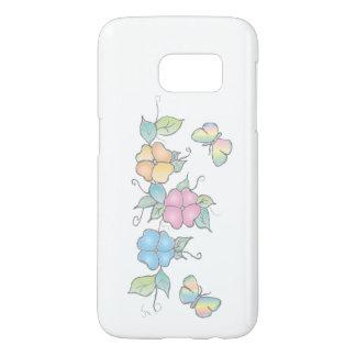 Funda Samsung Galaxy S7 Vive la acuarela floral de la mariposa de la risa