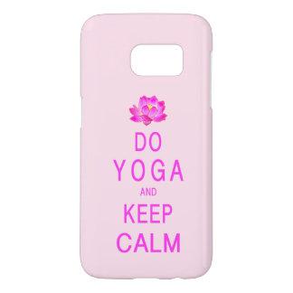 Funda Samsung Galaxy S7 Yoga con la flor de Lotus