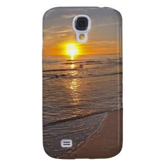 Funda Samsung S4 Caso: Puesta del sol por la playa