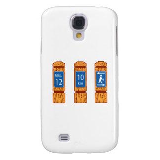 Funda Samsung S4 El marcador de madera de la milla firma retro