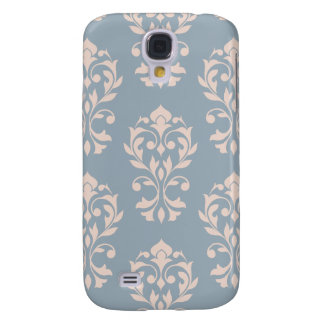 Funda Samsung S4 Rosa de LG Ptn II del damasco del corazón en azul
