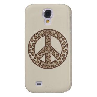 Funda Samsung S4 Símbolo de paz del leopardo