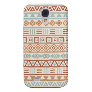 Funda Samsung S4 Terracota azteca del azul de la crema del modelo