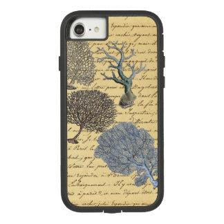 Funda Tough Extreme De Case-Mate Para iPhone 8/7 Arrecife de coral elegante costero náutico de la