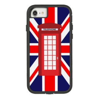 Funda Tough Extreme De Case-Mate Para iPhone 8/7 Bandera británica de Union Jack de la caja del