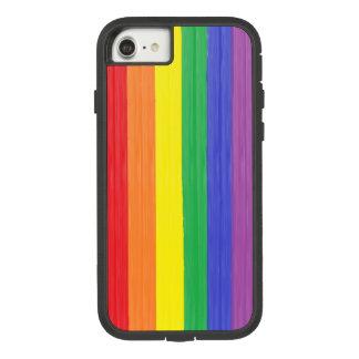 Funda Tough Extreme De Case-Mate Para iPhone 8/7 Bandera pintada del arco iris